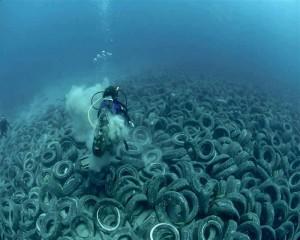 Pneumatici sott'acqua