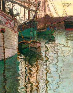 Porto di Trieste di Egon Schiele