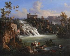 Raffaele Carelli 1795–1864.. Cascata sul Garigliano a Isola del Liri