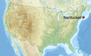 U.S. map. Nantucket