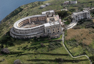 Veduta aerea del carcere di S. Stefano