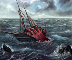 calamaro-gigante aggredisce veliero