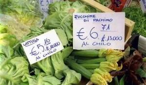 prezzi in lire ed in euro