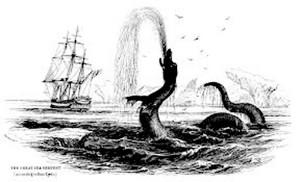 serpente di mare mostruoso