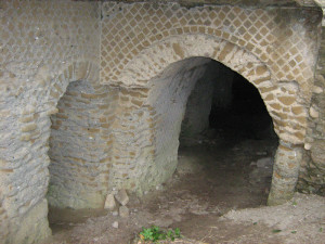 3. Grotta serpente. Fronte dell'accesso dalla str. Provinciale