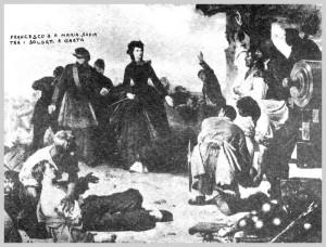 Francesco II e Maria Sofia. Gaeta