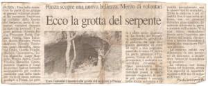 Ritaglio e foto grotta Serpente