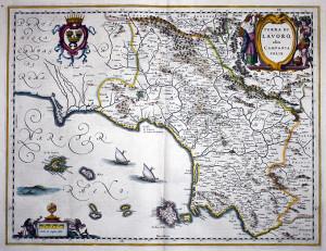 Terra di Lavoro. Antica mappa