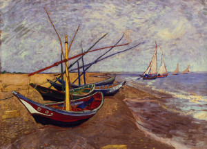 V. van Gogh. Barche sulla spiaggia di Les Saintes-Maries-de-La-Mer