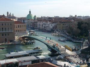 Venezia. Ponte di Calatrava durante i lavori