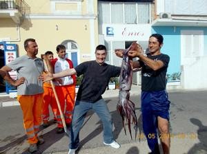 i pescatori del totano gigante