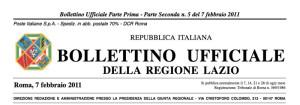Bollett. Uff. Reg. Lazio n. 5 del 7 febbr. 2011