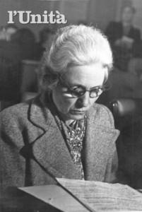 Camilla Ravera. Foto de L'Unità