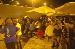La cena di domenica a Calacaparra