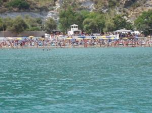 La spiaggia di Frontone ai tempi d'oro