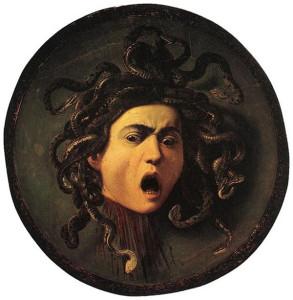 Lo scudo con la testa di Medusa del Caravaggio