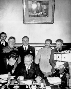 Molotov. Ribbentrop. Stalin
