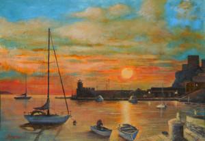 Porto di Ponza all'alba