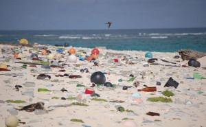 Spiaggia di plastica. Mongabay.com