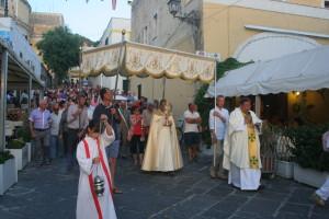 la processione del corpus domini a ponza