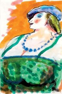 Fellini. Schizzi di donne