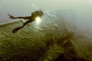 Foto subacquea relitto. 68° Annivers