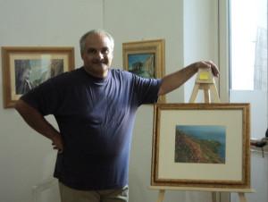 Guy Migliaccio. Immagine al Museo di Ponza 2011