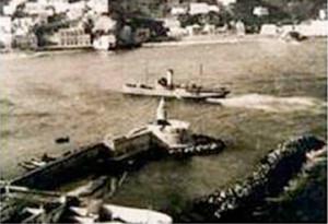 Il Santa Lucia nel porto di Ponza.1943