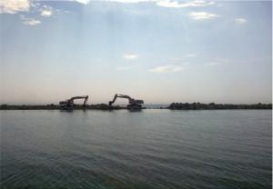 Lavori sul litorale di Ostia