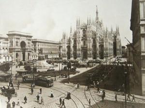 Piazza Duomo. Vecchia Milano