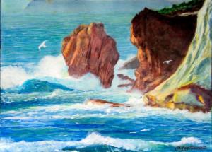 Ponza Capo Bianco. Mareggiata