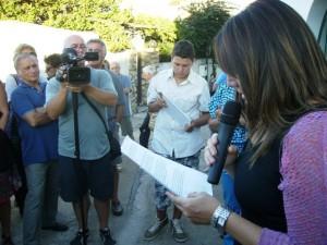 """Settembre 2013: Simone Casalino durante lo svolgimento di """"Lettere dal Confino"""""""
