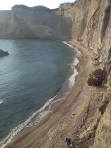 8. La spiaggia di Chiaia di Luna dall'alto
