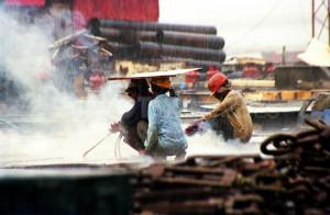 Alang shipbreakers. India
