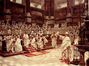 Arringa al Senato romano