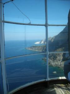 Dalla lanterna del Faro della Guardia. Vista verso Capo Bianco
