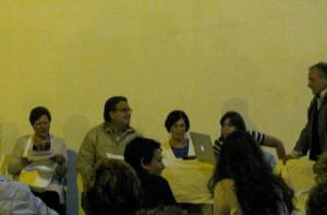 Ancora un momento della presentazione del romanzo D'Autunno, organizzata da Ponzaracconta a giugno 2013