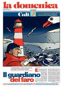 Il Guardiano di Paolo Rumiz su La Domenica di Repubblica. Immagine di Altan
