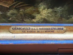 L'iscrizione sulla cornice del dipinto
