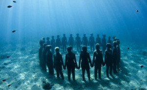 Museo subacqueo. Cancun-Underwater-Museum. Circle