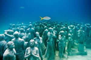 Museo subacqueo. Cancun. Folla