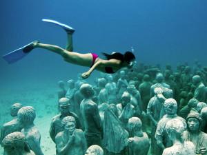 Museo subacqueo. Osservaz dall'alto