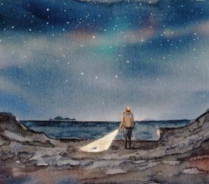 Notte di stelle. 9.8.14.Dis. di GIPI
