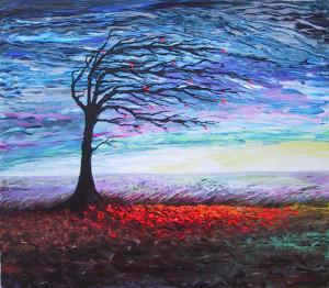 Paesaggio terrestre. Dipinto di Bruno Greco