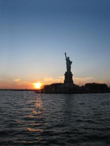 Statua della Libertà. Tramonto