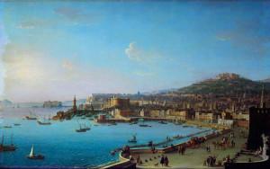 Veduta di Napoli con il Castel Nuovo Antonio Joli. 1700-1777