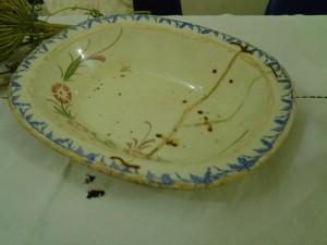 piatto riparato con i ciappi