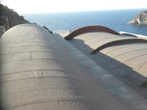 La copertura delle cupole. Lato mare