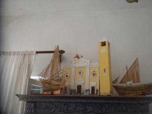 Plastico della Chiesa, con due campanili