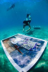 mostra subacquea nel mare di Ponza